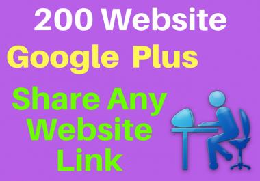 Provide 200 website Google plus share