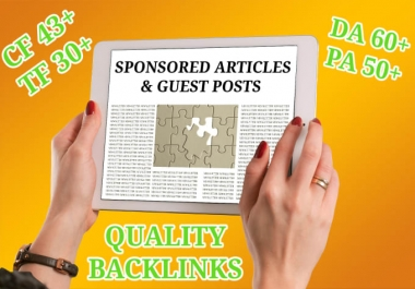 Dofollow Guest Post Article on Real Site With PA64 DA 56