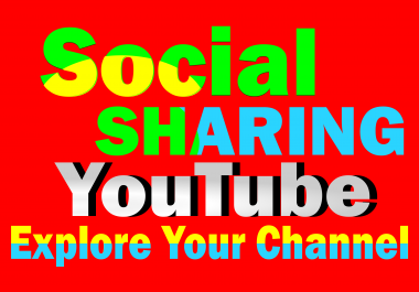 Deliver 200+ Social Media Shares to your YouTube video