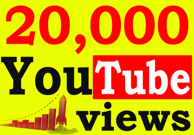 Fast 20,000+ High Retention 90 To 100 percent You-Tube Views