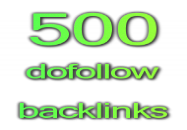 500 dofollow backlinks