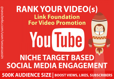 50,000 YouTube Backlinks to Improve Your Video Ranking with 10,000 YouTube Views
