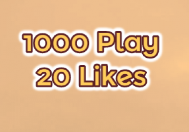 1000 USA Play 20 Likes on your track for Real Looking Promotion
