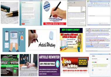 10 article rewrite worldwide with 10 keywords (each one 500 words)