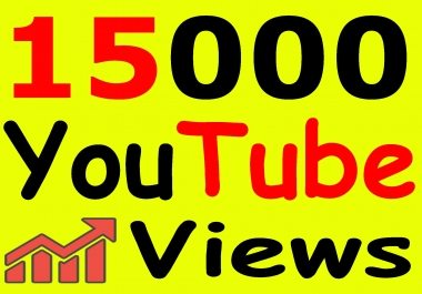 Get 15,000+ You-Tube Vie'ws & Bonus Lik'es with High Retention lifetime guarantee