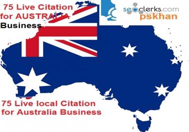 Create Australia Live 75  Local SEO Citation For Australia Business