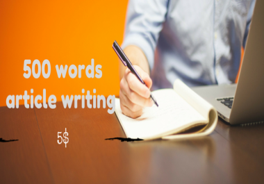 write article for Blog and website with 500 words