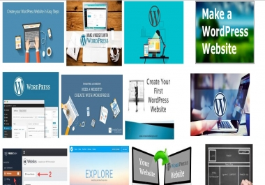 Create a website with WordPress. Easy for newbie also.