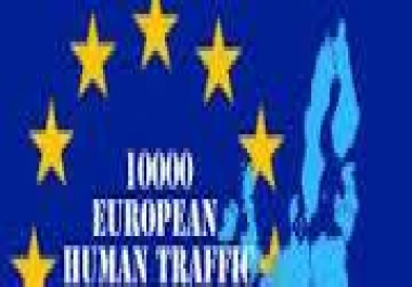 Drive 10000 HIGH Quality European Real  Visits