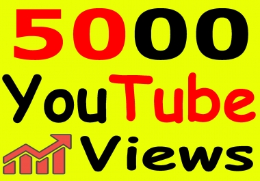 Get 5000+ You-Tube Vie'ws & Bonus Lik'es with High Retention lifetime guarantee