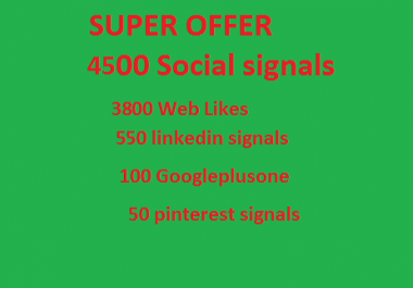 Super offer 4500 HQ Mixed Seo Social Signals from PR9 Googleplus Linkedin pinterest
