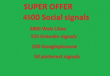 Super offer 4500 HQ Mixed Seo Social Signals from PR9 Googleplus Linkedin pinterest