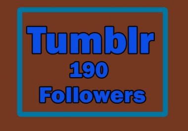 Give you 190 USA Tumblr followers to your profile