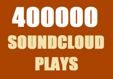 400000 SoundCloud Plays in 7 days Worldwide