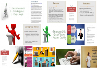 Presentation with power point creation or Speech writing up to 1000 words
