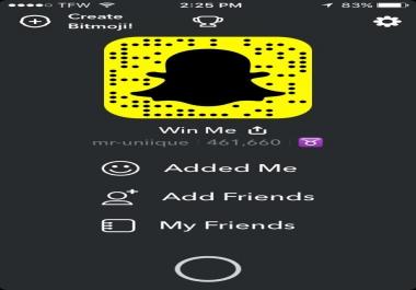 Add 1,000+ Snapchat Score *RECEIVE METHOD*