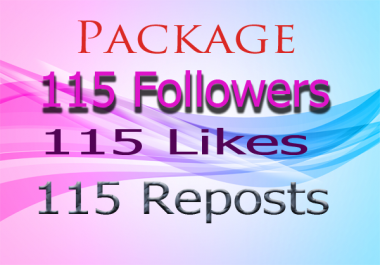 GET Unique SoundCloud Package 115 Followers 115 likes 115 Reposts