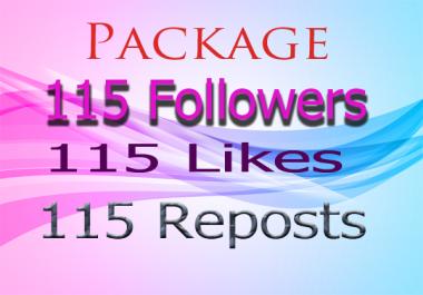 GET Unique SoundCloud Package 115 Followers 115 likes 115 Reposts