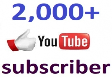Super fast 1000+Youtube channel subcriber non drop 12-24 hour in complete