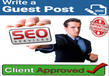write and publish a guest post on 10 high DA sites
