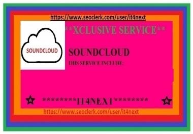 Get 29 K soundcloud plays + 550 likes + 125 reposts + 80 soundcloud comments