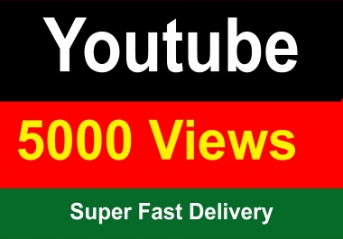 5000 Youtube Vie ws Super Fast Delivery Instant Start