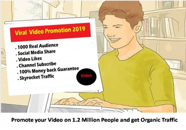 Promote your Video on 1.2 Million People and get Organic Traffic with 48-72 Hours delivery