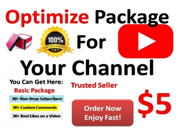 Seo For Your Channel Or Link and get real traffic with amazing package