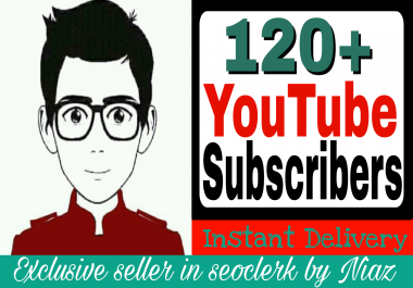 Exclusive offer 120+ subscriber on your  channel completed within 2 hour