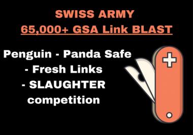 POTENT 65,000+ GSA SER Link Blast! SLAUGHTER COMPETITION