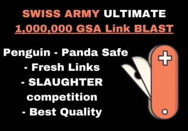 [THE ULTIMATE] 1,000,000 GSA SER BACKLINKS - SLAUGHTER COMPETITION