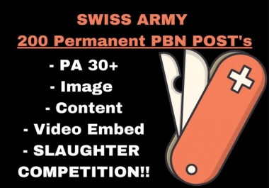 [ULTIMATE] 200 PERMANENT POST's Tumblr PBN PA30+ TF 30+ SLAUGHTER COMPETITION