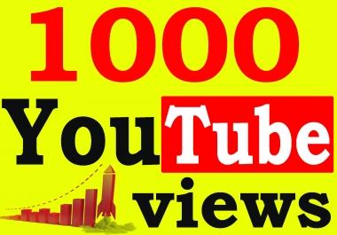 Fast 1000+ Adsense Safe HQ Retention 99% YouTube Views Non Drop