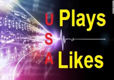 5,500 Non-drop Genuine plays, 100 Likes to your SoundCloud tracks within 24 hours
