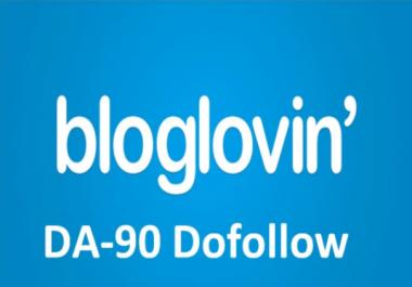 write and Publish a dofollow Guest Post On bloglovin DA90