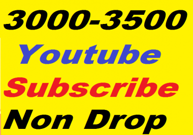 3000+ YouTube Subscribers to Attractive Your Channel Non Drop Guaranteed