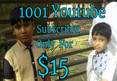 1010+ Youtube channel  subscriber or 3333+ youtube likes 444+Youtube Auto comment give you