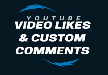 OFFER 650+ youtube video likes and Add 40+ custom comments for youtube video high quality  fast sell