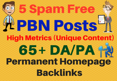 Ultra Premium 5 PBN High Metrics 65+ DA/PA Contextual Permanent Backlinks