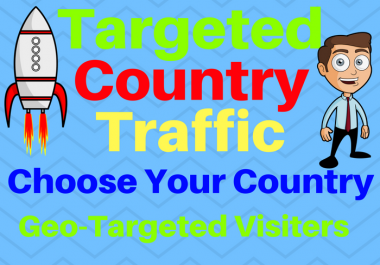 Provide You 1000 Targeted Country Traffic Choose your country