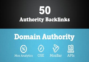 50 PR 5-9 Unique High Authority Backlinks