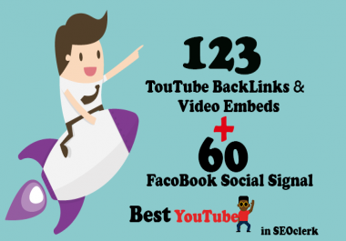123 Dofollow BackLinks With YouTube Video 123 Embeds  + 60  Social Signal - Organic Promotion