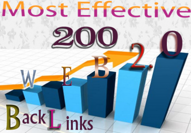 Get Most Effective 200 Web 2.0 High-Quality Backlinks