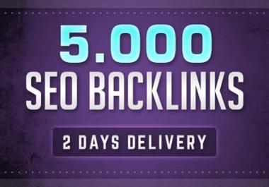 Build 5000 SEO backlinks for google ranking