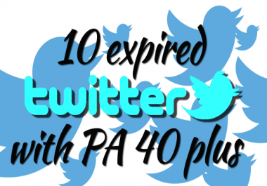 500+ Orders - I Will Provide 10 Twitter PA 45 Above With DA100