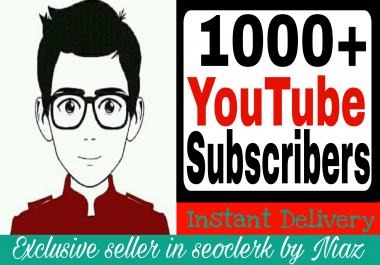 Wonderful Quick 1000+ Channel Subscribers non drop guaranteed