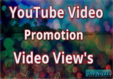 Fantastic Deals Youtube video promotion non drop guaranteed