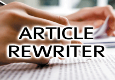 manually rewrite your 2 x 500 words articles for any topic