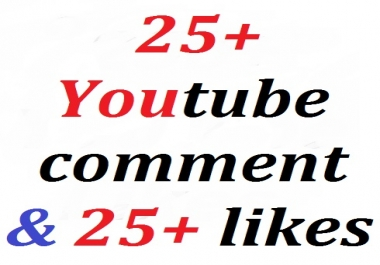 25+ youtube custom comment + bonus 25+ likes very fasttest delivery with profile picture