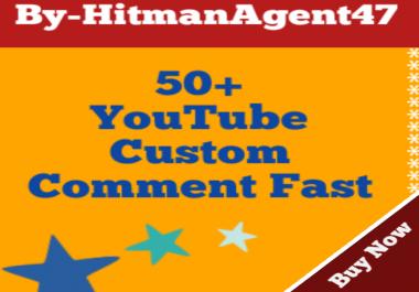 Guaranteed 50+ Youtube Custom Comments Fast Non Drop
